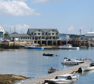 Penobscot East's headquarters on the waterfront in Stonington Harbor